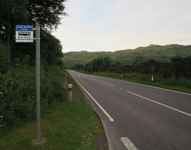 Bus stop, A828