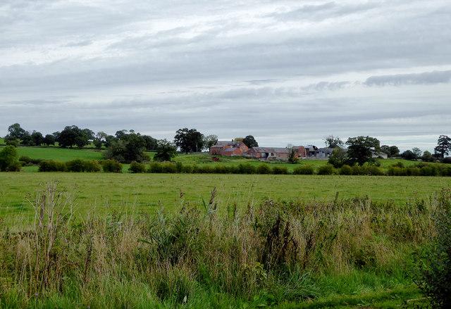 Farmland near Norbury in Cheshire