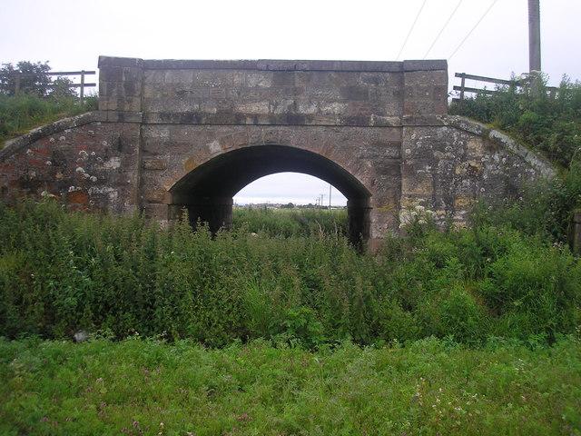 Bridge over the former railway line