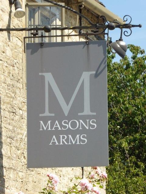 Masons Arms inn sign