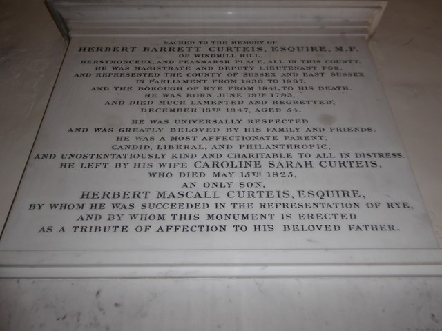 St Mary Magdalene, Wartling: memorial (iii)