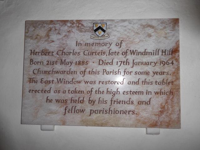 St Mary Magdalene, Wartling: memorial (v)