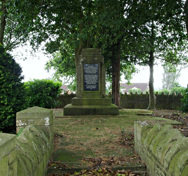 Charles Thompson's Grave, Berry Hill, Mansfield, Notts.
