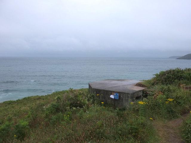 WW2 Pillbox at Kennack Sands