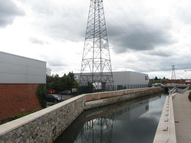 Conn's Water above the Upper Newtownards Road Bridge