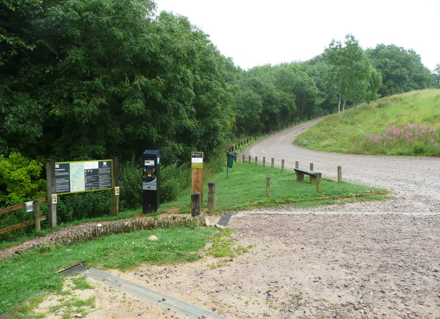 Entrance to Woodchester Park from the car park