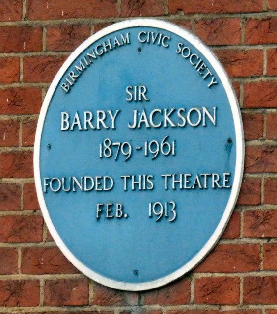 Blue Plaque: Barry Jackson
