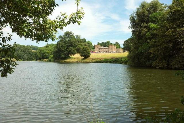 Ugbrooke: lake and house