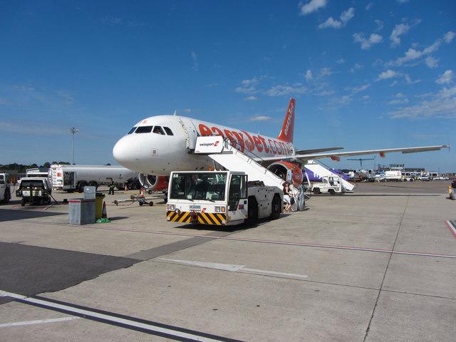 EasyJet aircraft at Bristol Airport