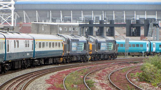 Railtour in Cardiff
