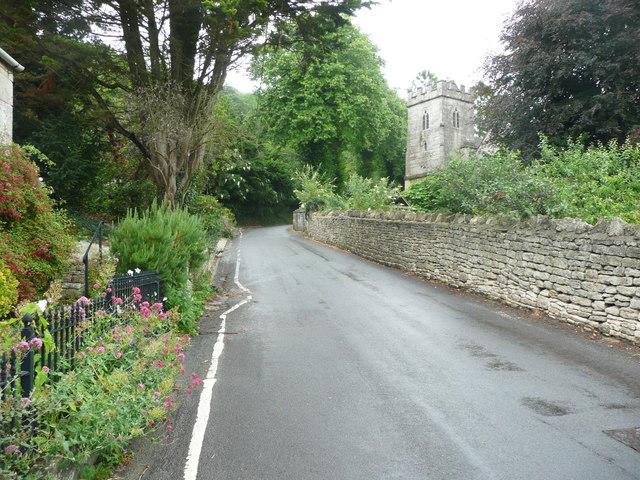 The lane through Randwick approaching St John's Church
