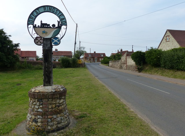 Great Ringstead village sign