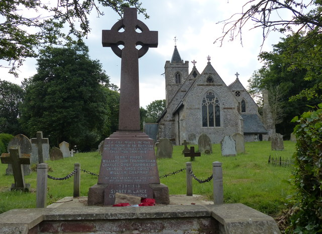 St Andrew's church and war memorial