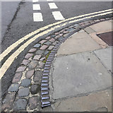SP5106 : Cast iron kerb at a corner, George Street, Oxford by Robin Stott