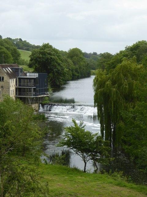 Weir in River Avon at Avoncliff