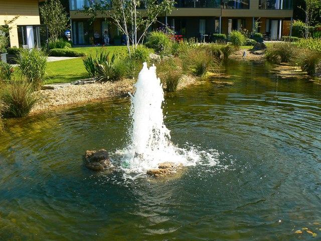 Fountain, Garden Lodge garden, Bodelwyddan Castle