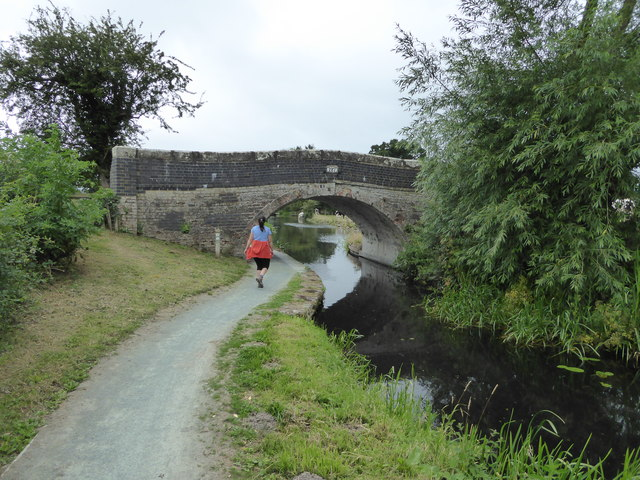 Walking the towpath of the Montgomeryshire Canal