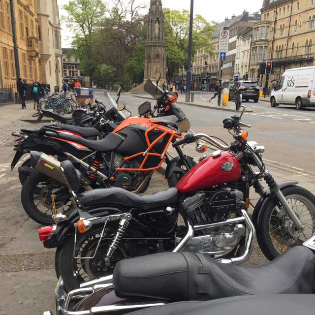 Motorcycle parking, St Giles', Oxford