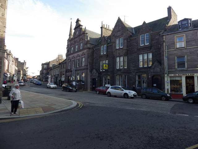 Looking up East High Street