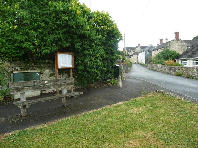 Seat on a corner at Whiteshill