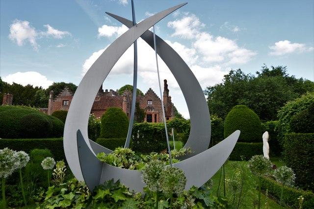 Chenies Manor House: Garden sculpture 3 (closer view)