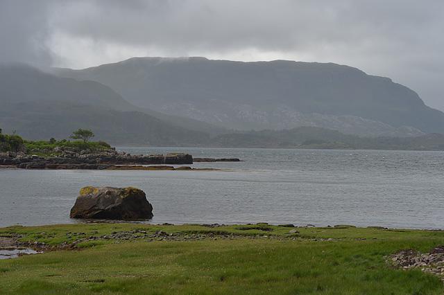Rain over Loch Torridon