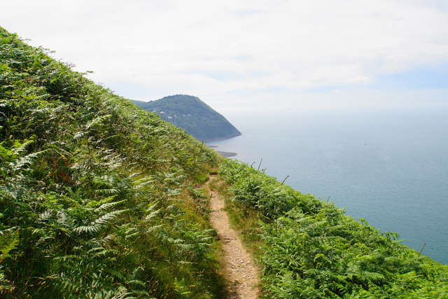 South West Coast Path on Countisbury Hill