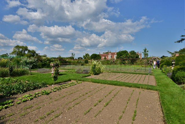 Helmingham Hall from the Walled Kitchen Garden