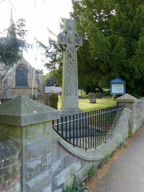 War memorial in Denby churchyard