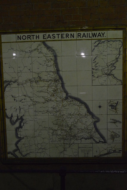 North Eastern Railways Map, Beverley Station