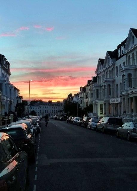 Sunset from Burlington Place