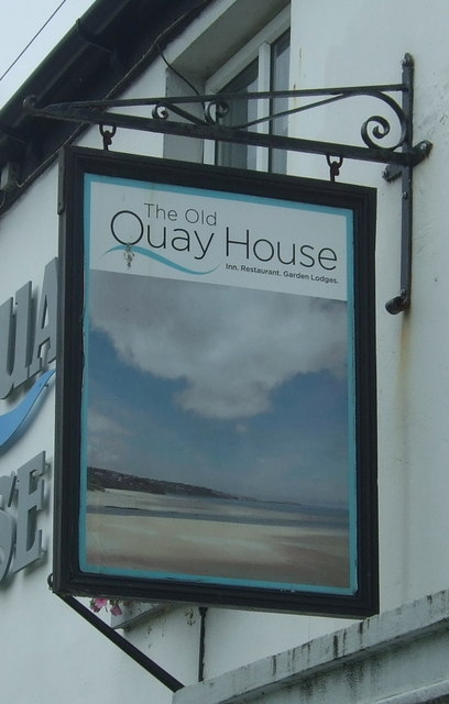 Sign for the Old Quay House, Griggs Quay