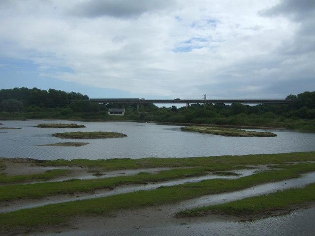 Lagoon off the Hayle Estuary