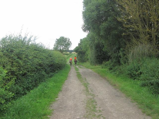 Bridleway north of Shortwood Farm