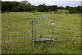 TQ1653 : Chair in the fence near Norbury Park Farm by Robert Eva