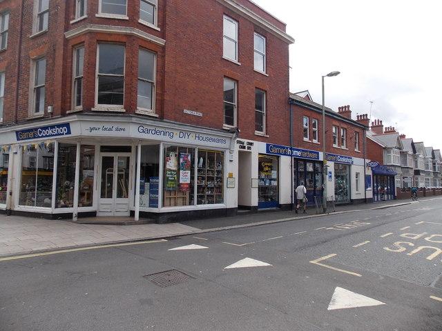 Victoria Road side of Garner's, Exmouth