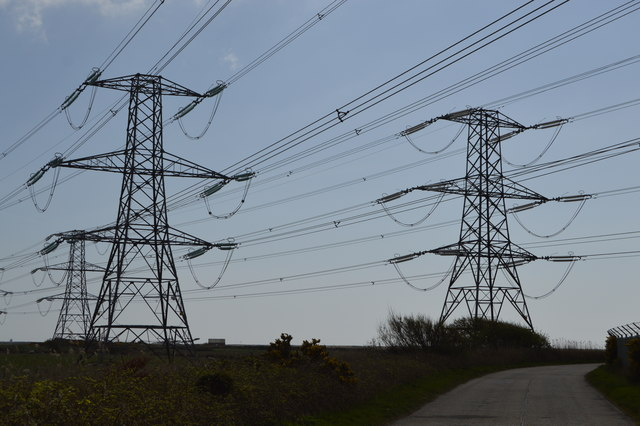 Pylons by Military Access Road