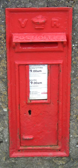 Victorian postbox on the A30, Sennen