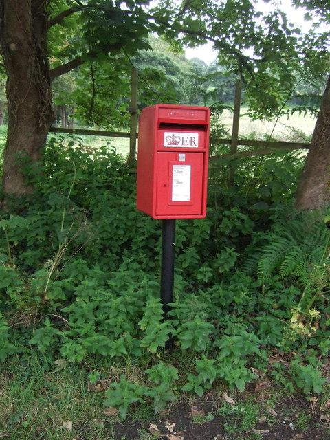 Elizabeth II postbox, Gwallon