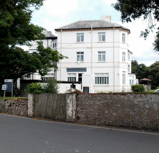 West side of the Imperial Hotel, Exmouth