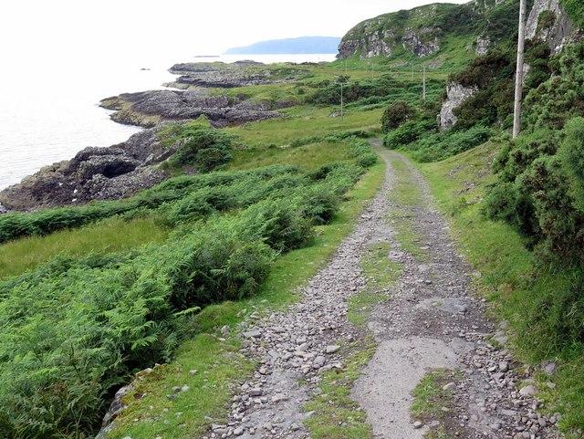 Track west of Lower Gylen