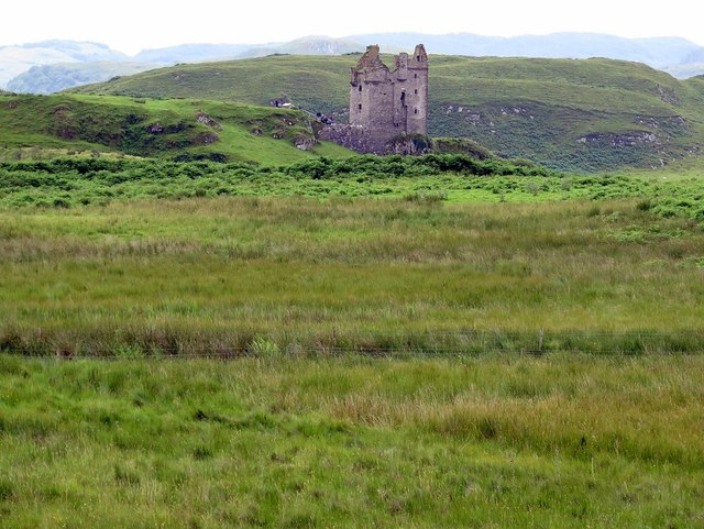 Gylen Castle from the north, Kerrera