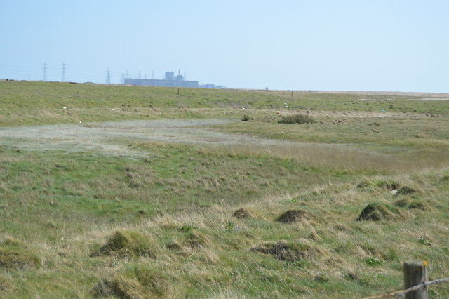 Distant view to Dungeness Power Stations