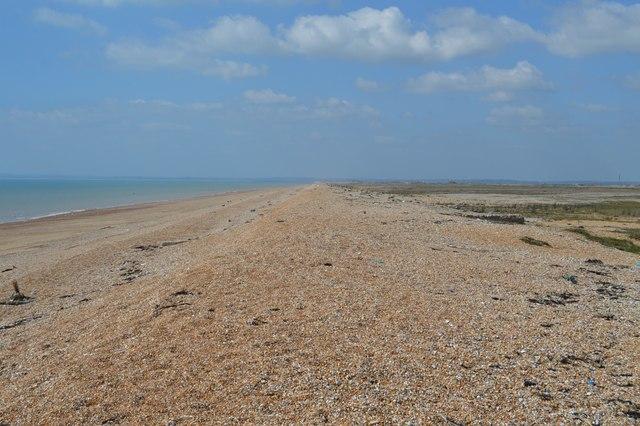 Shingle beach