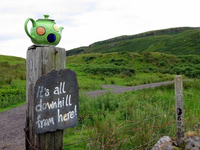 'Downhill from here', Kerrera