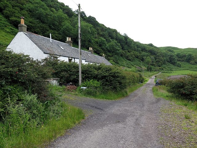 Former quarry workers' cottages, Little Horseshoe Bay, Kerrera