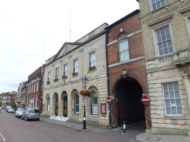 The Town Hall and Corn Exchange in Wisbech