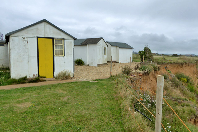 Cliff erosion at Brighstone Holiday Centre