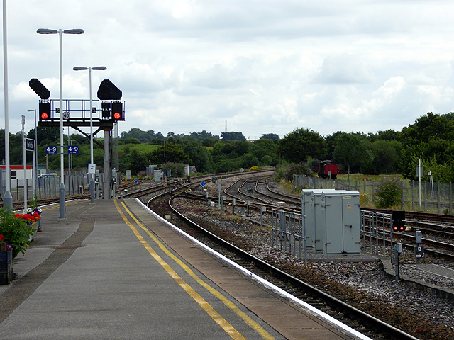 Looking east from Yeovil Junction Station