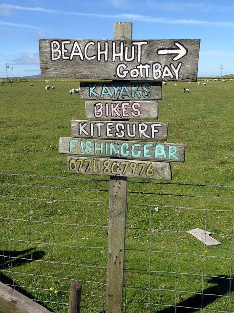 Road signs, Scarinish, Tiree